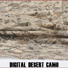 "2-YARDS Digital Desert Camouflage Net Cover Army Military 60""W Mesh Fabric Cloth"