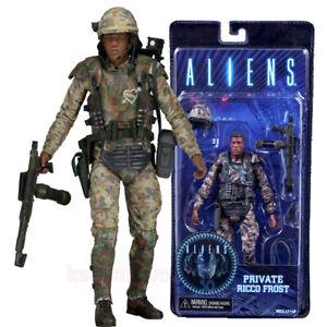 """NECA Aliens Series 9 Xenomorph Private Ricco Frost 7"""" Action Figur Modell Statue"""