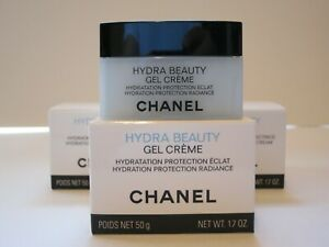 CHANEL HYDRA BEAUTY GEL CREME HYDRATION PROTECTION RADIANCE 50G MADE IN FRANCE