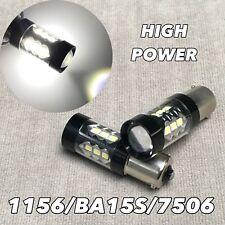 Front Turn Signal Light 6k White SMD LED Bulb 1156 BA15S 7506 3497 P21W W1 JAE