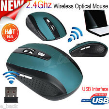 Slim Mouse Wireless USB 2.4 GHz Optical 2400DPI Scroll Mice For PC Laptop Mac