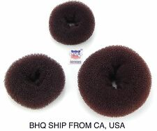 WOMEN HAIR BUN RING DONUT SHAPER 3 SIZE IN PACKAGE. (BROWN)