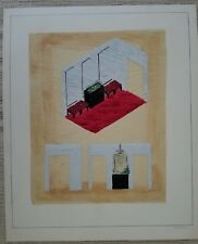 Signed Painting Interior Decorator Watercolor Design Water Color Art Decoration