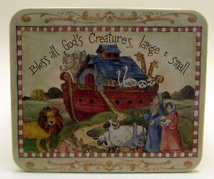 "Barbara Mock ""Bless all Creatures"" Noah's Ark Tin - Giftco New"
