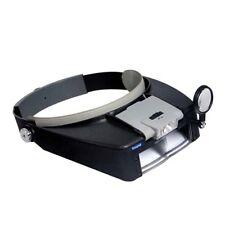 Illumify Lighted Head Magnifier Visor w/ Removable LED- Headband New Free Ship
