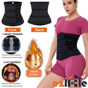 3Belt Waist Trainer Shapewear Slimming Sweat Belt Compression Body Shaper Corset