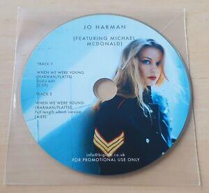 JO HARMAN feat MICHAEL McDONALD When We Were Young 2017 UK 2-trk promo CD
