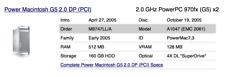 Apple Mac G5 PowerPC Dual 2GHz 4GB RAM Early 2005 Apple Mac Pro Desktop