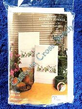 """Stamped Hand Towels to Cross Stitch Pair Ivy Vine Terry 16"""" x 25"""" OOP"""