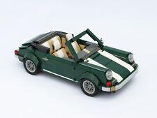 Lego Custom Green Porsche car 911 718 Cayman S Luxuary Car Mini Model AUTO