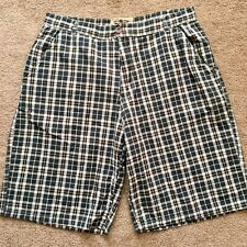 Works By Ron Chereskin Plaid Shorts Casual Mens Size 36 Waist
