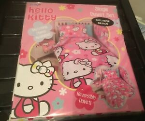 hello kitty single duvet cover brand new in package