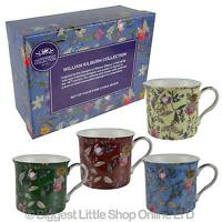 NEW SET of Fine China FOUR MUGS by Leonardo; William Kilburn Collection Gift Box