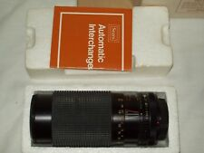Sears Canon Mount 80MM-200MM F4.0 Macro/One-Touch Zoom Lens w/Box & Manual