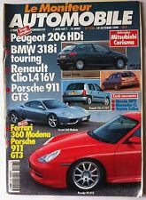 Le moniteur Automobile 14/10/1996; Essai 206 HDi/ BMW 318i/ Clio 1.4 16V/ Porche