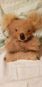 Vintage Wind Up Australian Koala Bear Toy, Musical Plays Waltzing Matilda