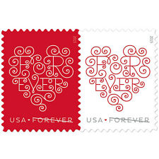 2015 49c Lacy Forever Hearts, Pair Scott 4955-56 Mint F/VF NH