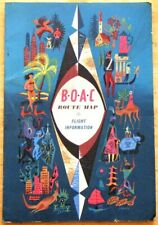 More details for boac route map & flight information booklet (late 1950s) includes extra leaflets