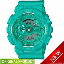 GMAS110VC-3A Casio G Shock Vivid Color Blue Teal Green Digital Analog Watch