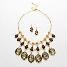 Gold and Animal Print Necklace