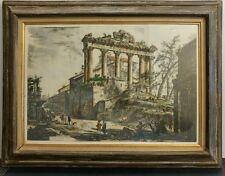 Veduta del Tempio detto della Concordia -Cavalier Piranesi F. etching c.1770