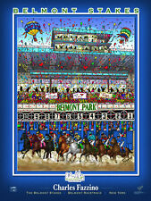 Belmont Park Racetrack BELMONT STAKES STARTING GATE Official Poster by Fazzino