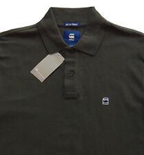 059345242e Men s G-Star   G Raw Gray Grey Logo Cotton Pique Polo Shirt Large L