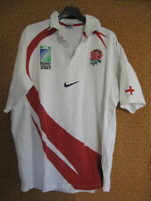 Maillot Rugby Angleterre Nike jersey England World cup 2007 Vintage coton  - XL