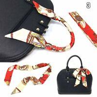1 Pc. Silk Twilly Scarf, Twill Handbag Handle Wrap Purse Scarves Hair Bow Ribbon