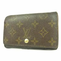 Auth LOUIS VUITTON M61736 Monogram Tresor Wallet Purse F/S 3772b