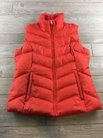 Eddie Bauer Premium Goose Down Women's Puffer Vest Jacket Pink S Full Zip Ski