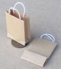 1:12 Scale 2 Empty Paper Carrier Bags Tumdee Dolls House Kitchen Food Accessory