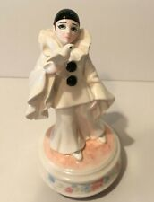 Schmidt Pierrot Love Edition Musical Box Figurine Plays Humoresque