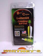 Burt Coyote Lumenok Crossbow Lighted Flat Bolt -  Single Green - EXCF1G