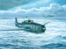 """Final Approach To Home"" Tom Freeman Print - Lt. George H. W. Bush Avenger 1944"