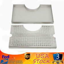 Drip Tray With Cutout Tower Beer Draft Removable Grate No Drain Stainless Steel