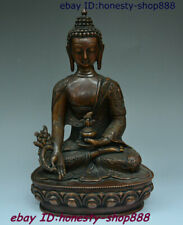 Asian Antiques Antiques Cheap Sale Tibet Buddhism Temple Pure Bronze Sakyamuni Shakyamuni Tathagata Buddha Statue Elegant Shape