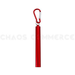 Portable Collapsing Telescopic Stainless Steel Reusable Drinking Straw & Brush