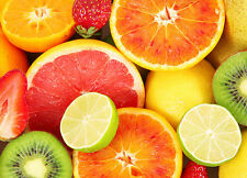 Wallpaper mural for bedroom - Fruits kitchen wall decor poster type photo wall