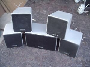 5 - Sony SS-MSP700 Small Gray Hangable Satellite Stereo Speakers 6 ohm #1