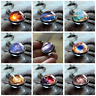 Curious Sparkling Galaxy Solar Planet Star Amber Necklace Pendant Chain as MIB