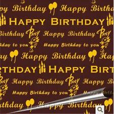 Happy Birthday Yellow Chocolate Transfer Sheet