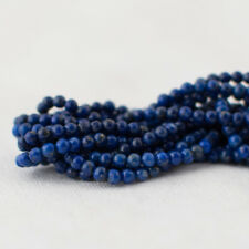Grade A Natural lapis lazuli Semi-Precious Gemstone Round Beads - 2 mm - 15.5""