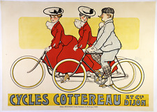 Cycles Cottereau - Original Vintage Bicycle Poster - Cycling - Rene Vincent