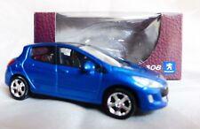 """Peugeot 308 Bleu 1/64 """"3 Inche"""" Diecast NOREV Produit NEUF !!"""