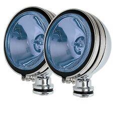 "2 x Chrome 6"" BLUE  Angel Eye Halogen Car Spotlights Fog Spot Lights Foglights"