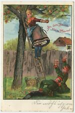 Hirschberg 1902 Soldiers Humour Imperial German Army Postcard (625)