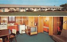 CAVENDISH, PEI Canada  SEASIDE MOTEL  Roadside   ROOM~TV   Chrome Postcard