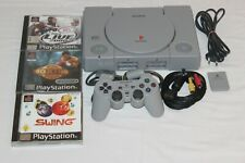 Playstation 1 / Ps1 -Sony Konsole + Original Controller + Alle Kabel + 3 Spiele