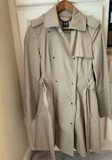 ARMANI EXCHANGE Belted Trench Coat Coated Jacket Sz Medium